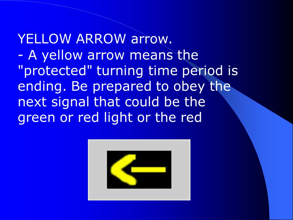 YELLOW ARROW arrow.