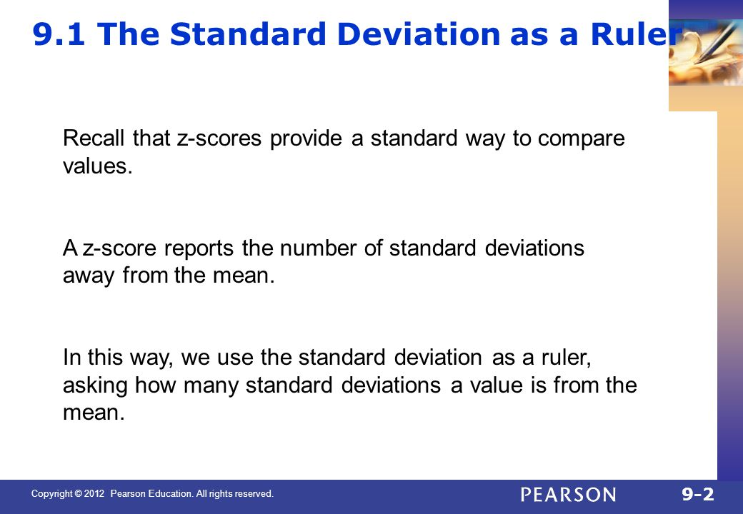 9.1 The Standard Deviation as a Ruler