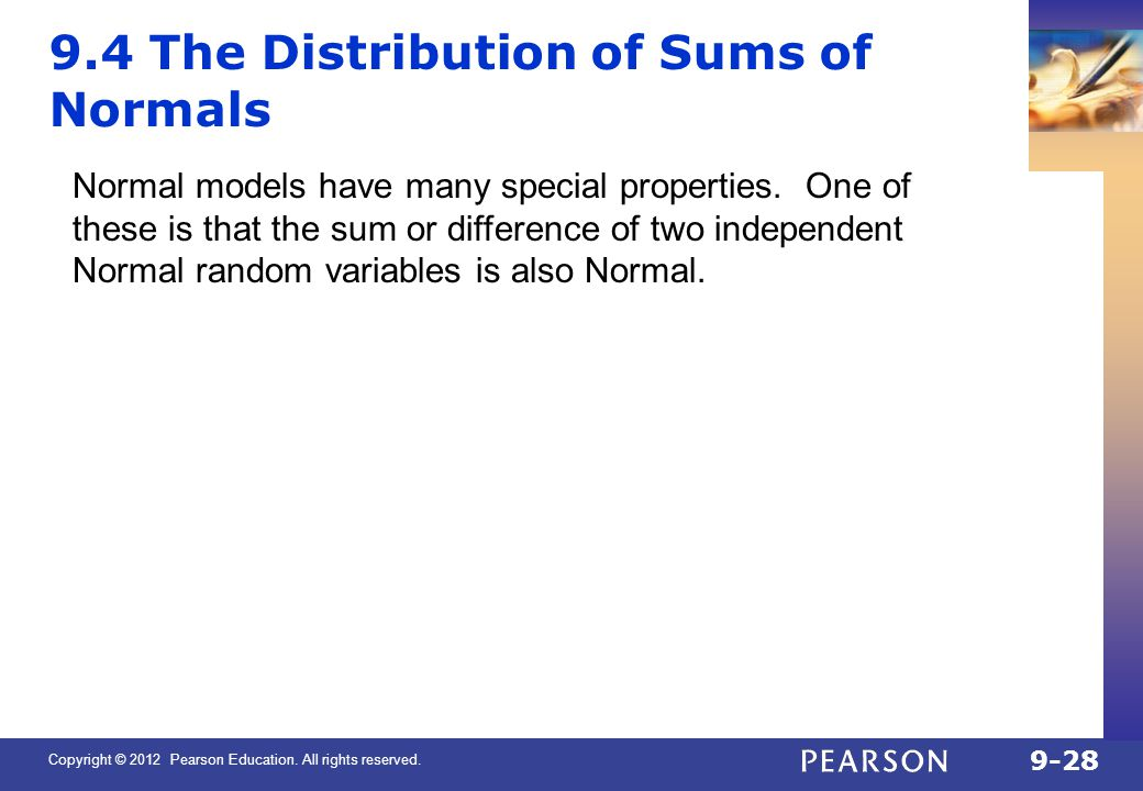9.4 The Distribution of Sums of Normals