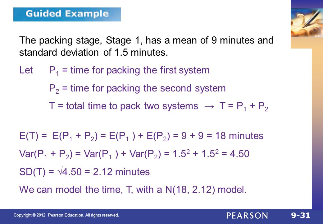 QTM1310/ Sharpe 9.4. The packing stage, Stage 1, has a mean of 9 minutes and standard deviation of 1.5 minutes.