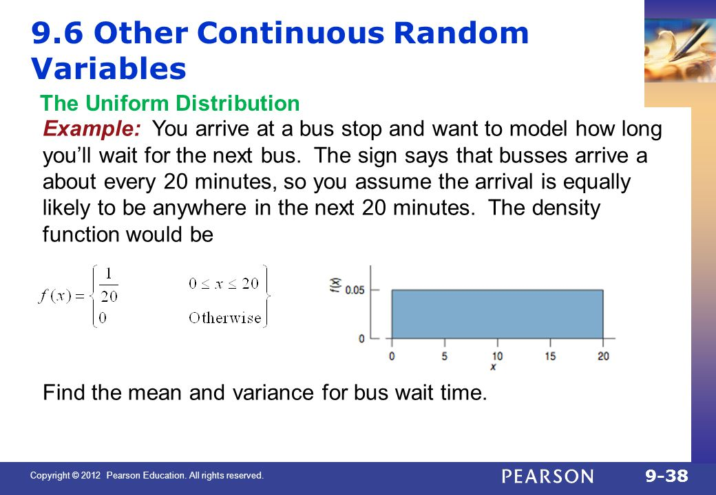 9.6 Other Continuous Random Variables