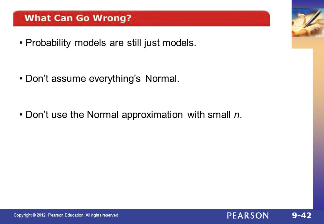 Probability models are still just models.