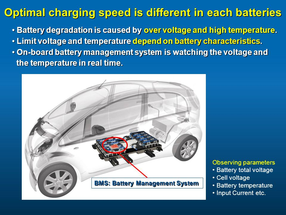 Optimal charging speed is different in each batteries