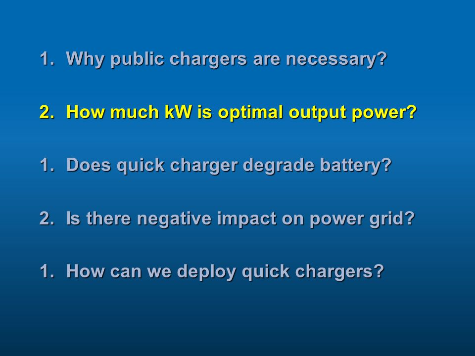 Why public chargers are necessary