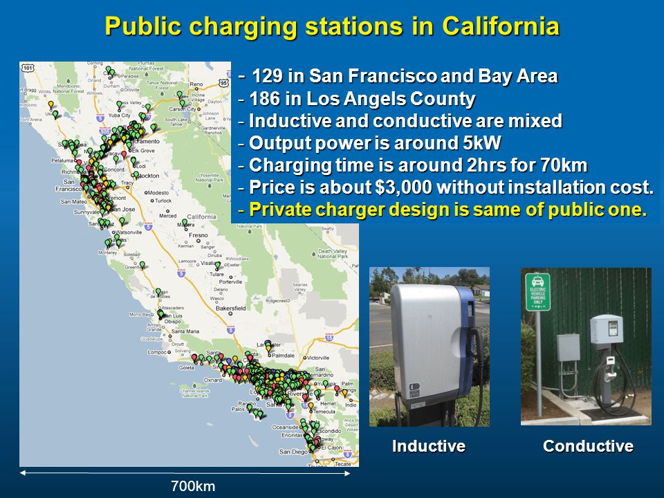 Public charging stations in California