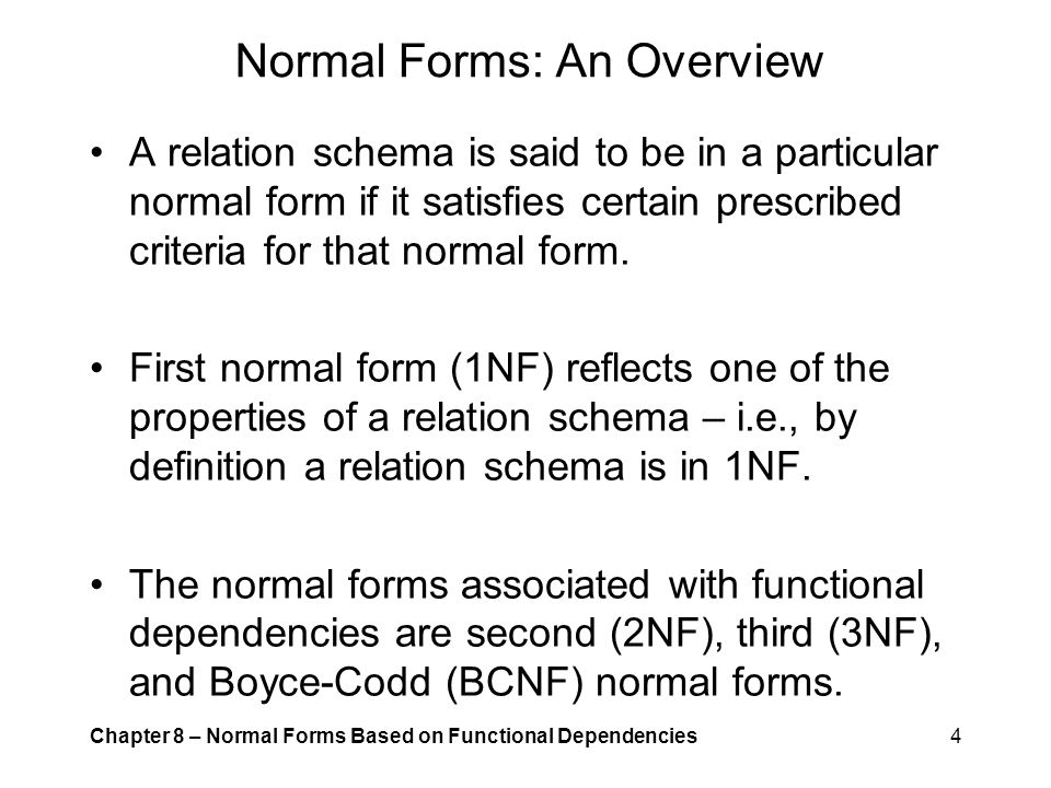 Normal Forms: An Overview
