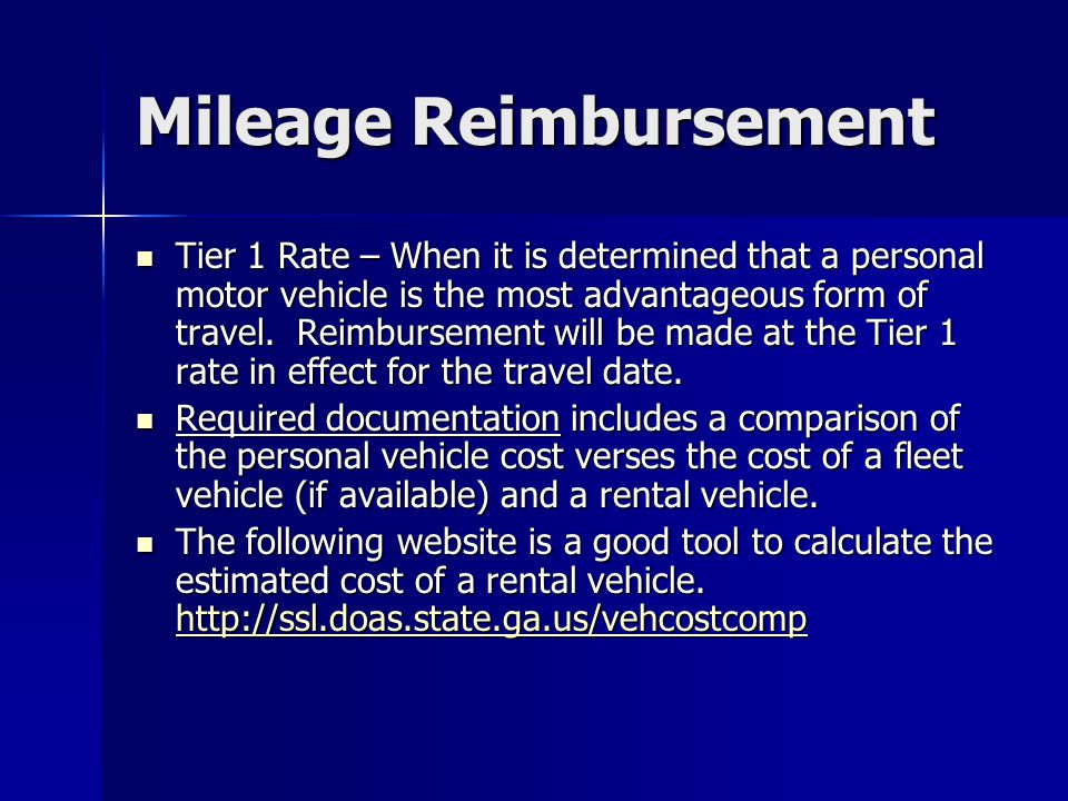 Mileage Reimbursement