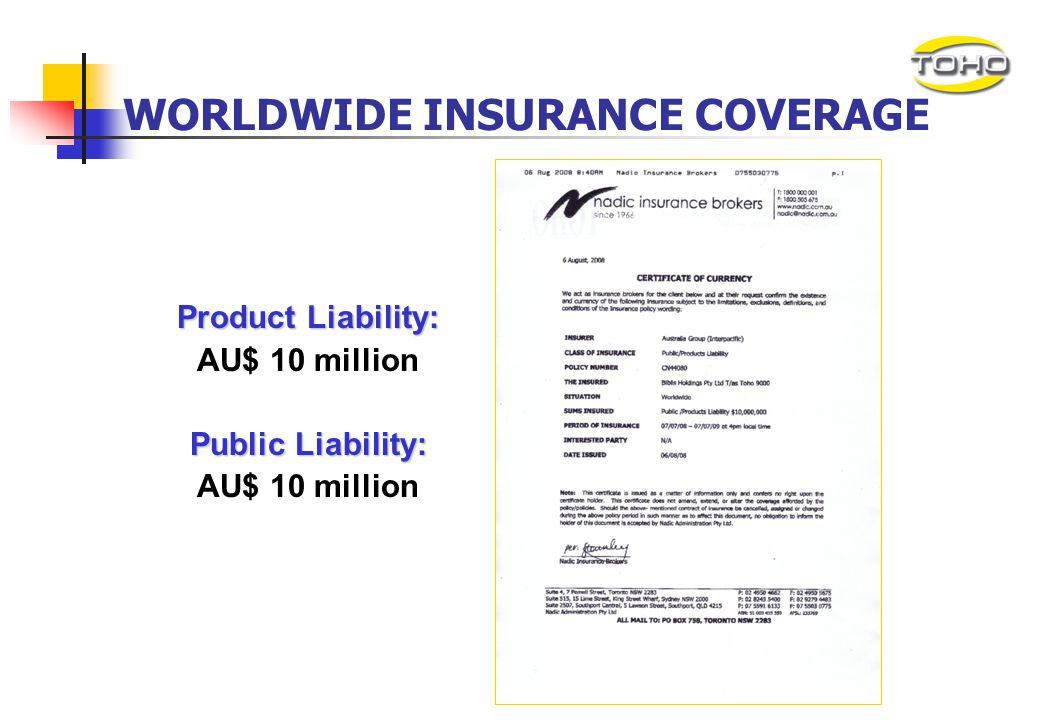 WORLDWIDE INSURANCE COVERAGE