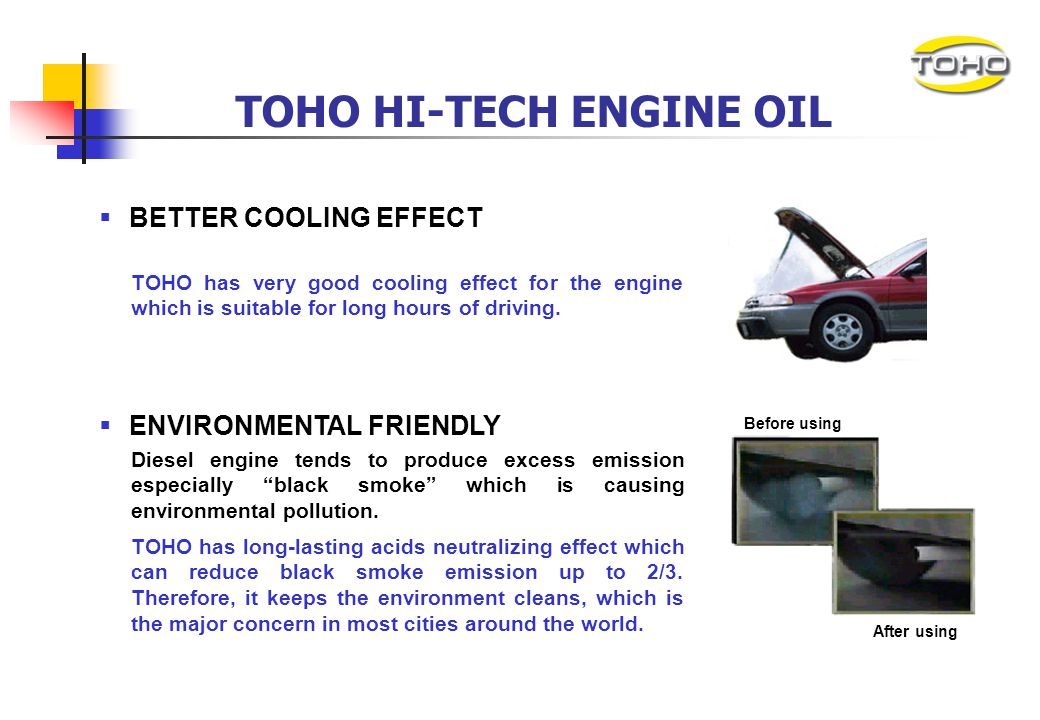 TOHO HI-TECH ENGINE OIL