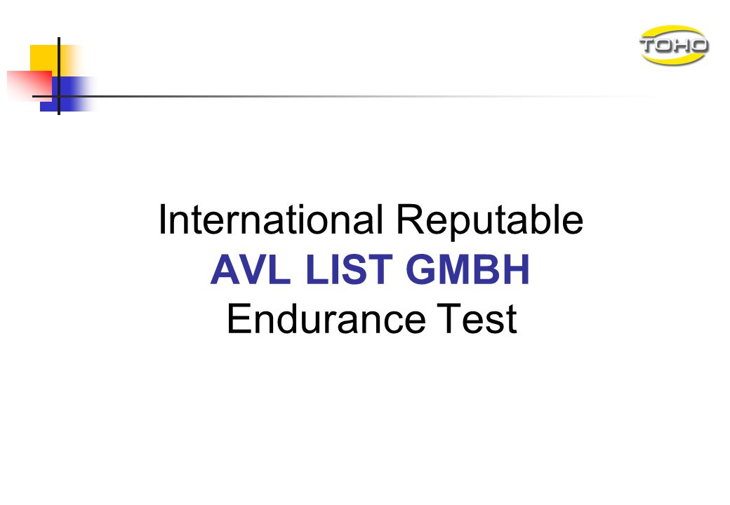 AVL LIST GMBH Endurance Test