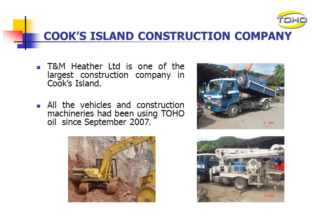 COOK'S ISLAND CONSTRUCTION COMPANY