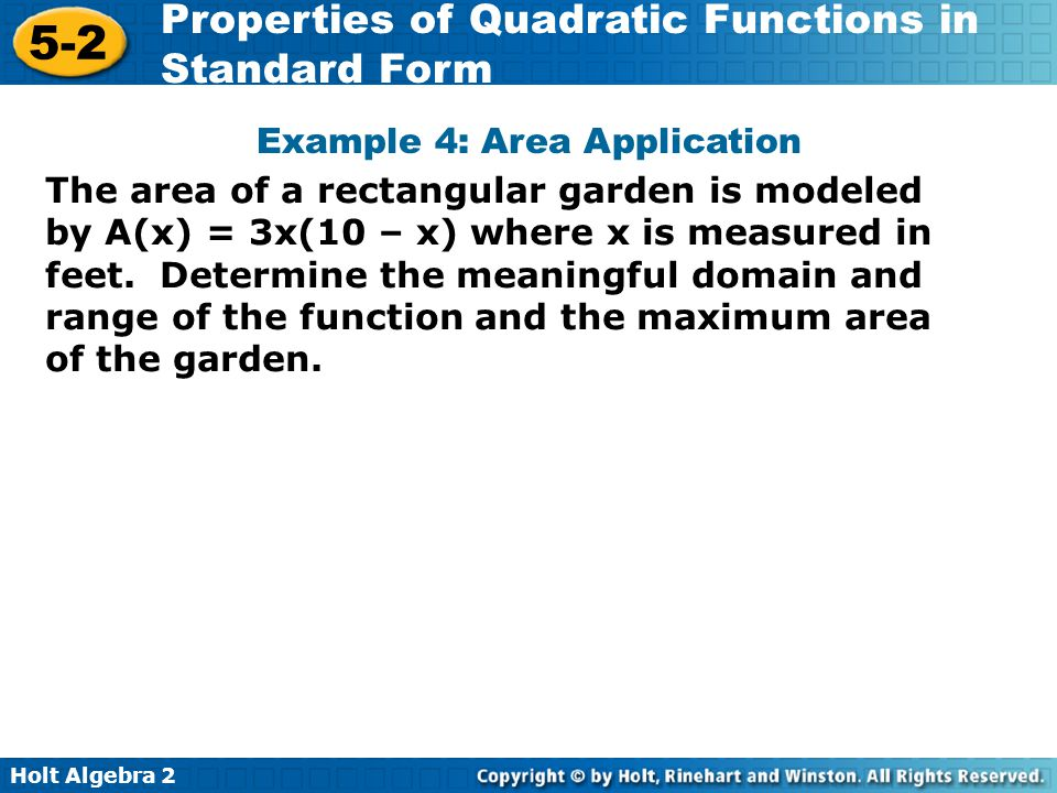 Example 4: Area Application