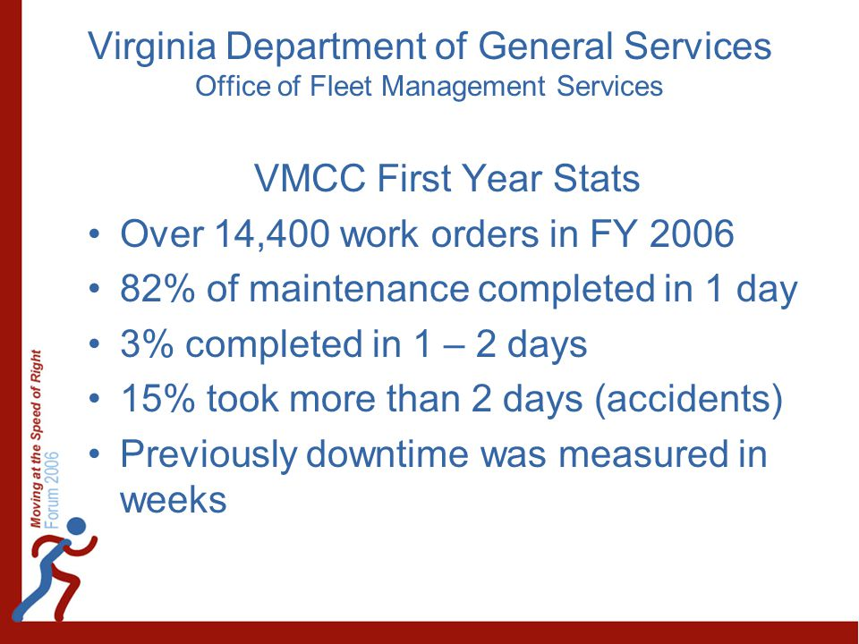 Virginia Department of General Services Office of Fleet Management Services