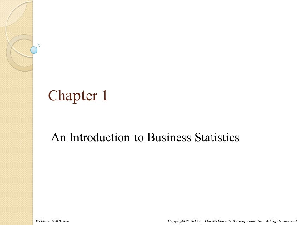 An Introduction to Business Statistics