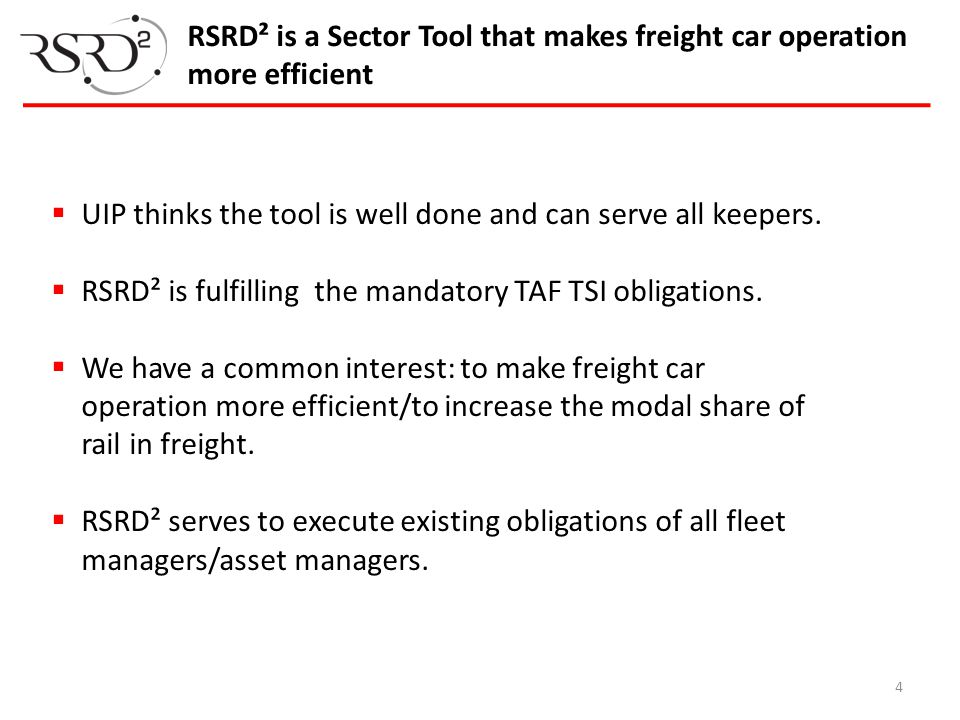 RSRD² is a Sector Tool that makes freight car operation more efficient