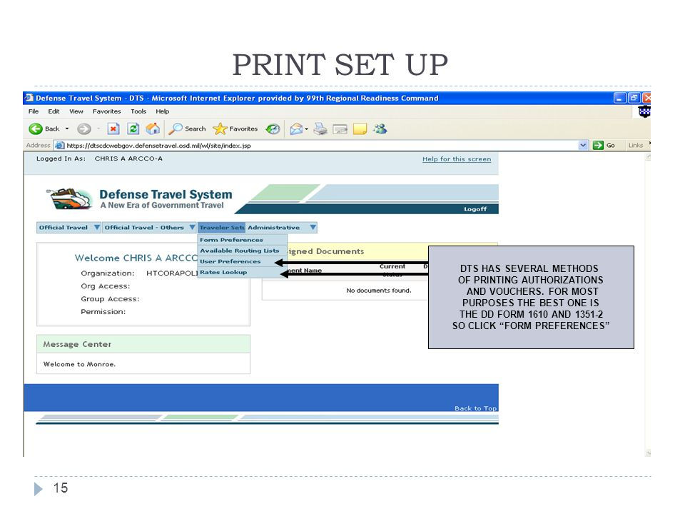 PRINT SET UP DTS HAS SEVERAL METHODS OF PRINTING AUTHORIZATIONS