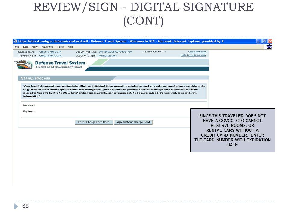REVIEW/SIGN - DIGITAL SIGNATURE (CONT)