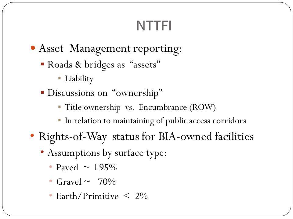 NTTFI Asset Management reporting: