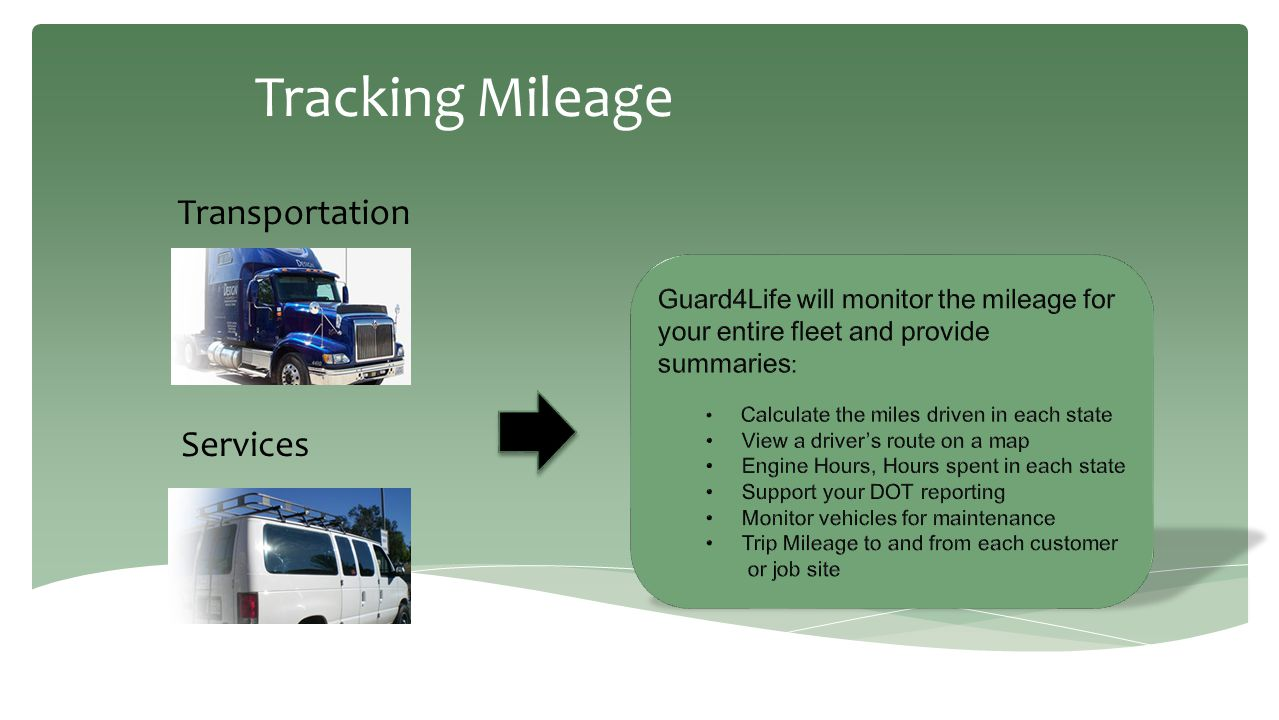 Tracking Mileage Transportation Services