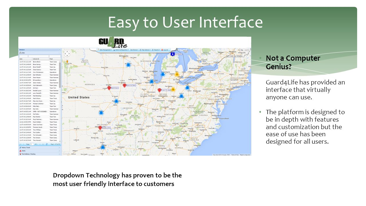Easy to User Interface Not a Computer Genius Guard4Life has provided an interface that virtually anyone can use.