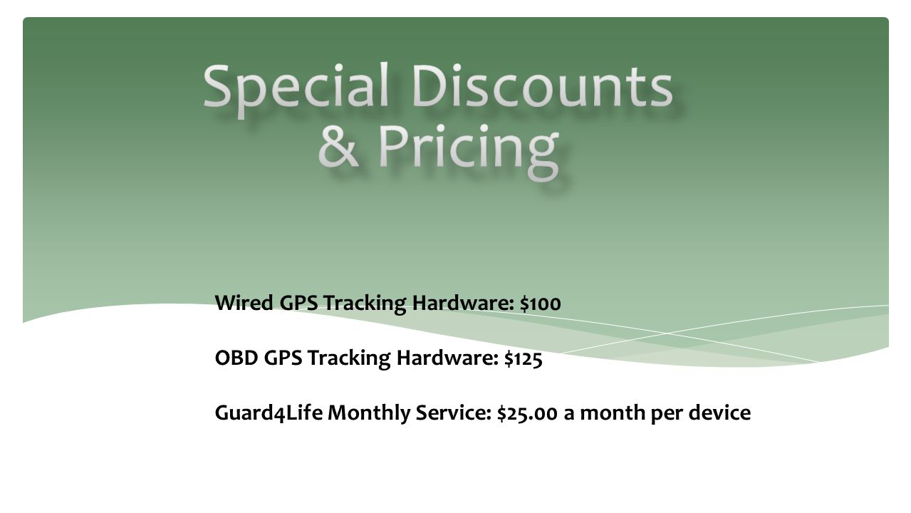 Special Discounts & Pricing