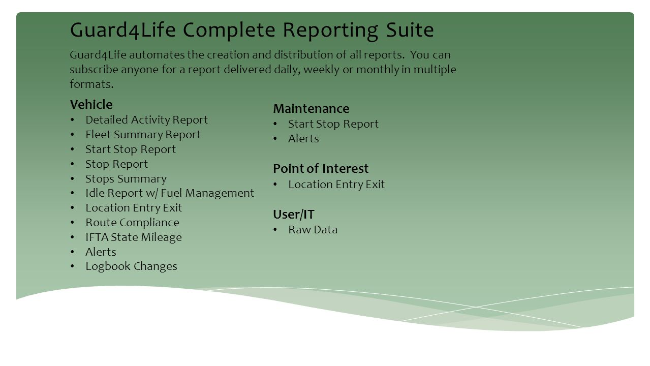 Guard4Life Complete Reporting Suite