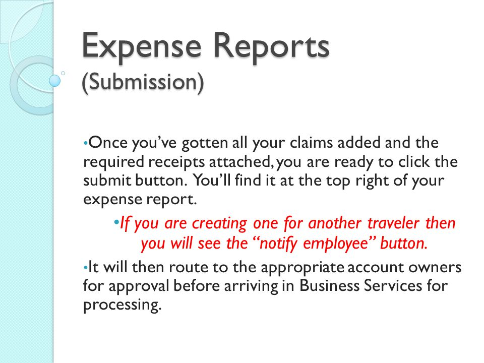 Expense Reports (Submission)