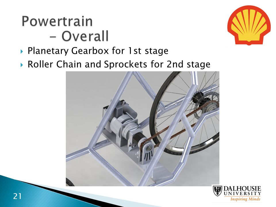 Powertrain - Overall Planetary Gearbox for 1st stage