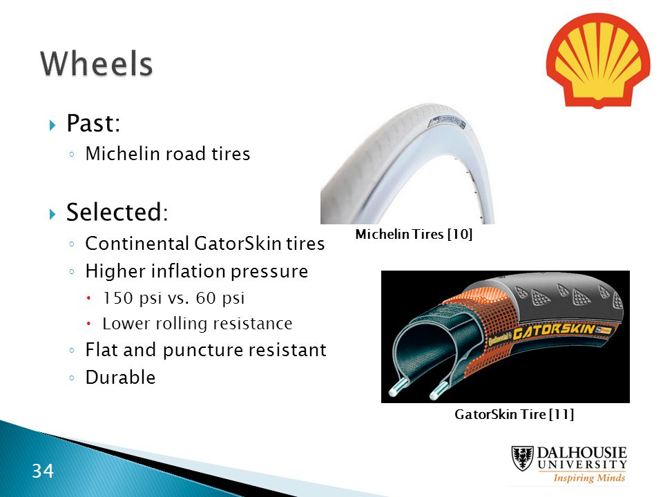 Wheels Past: Selected: Michelin road tires Continental GatorSkin tires