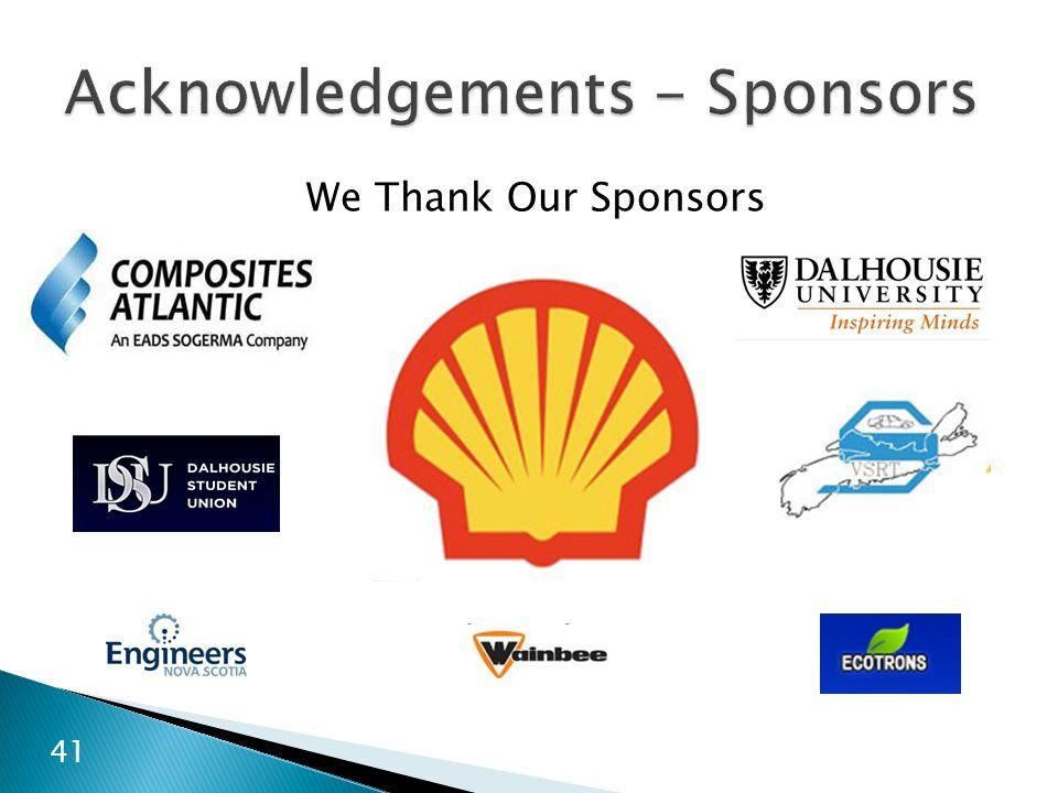 Acknowledgements - Sponsors