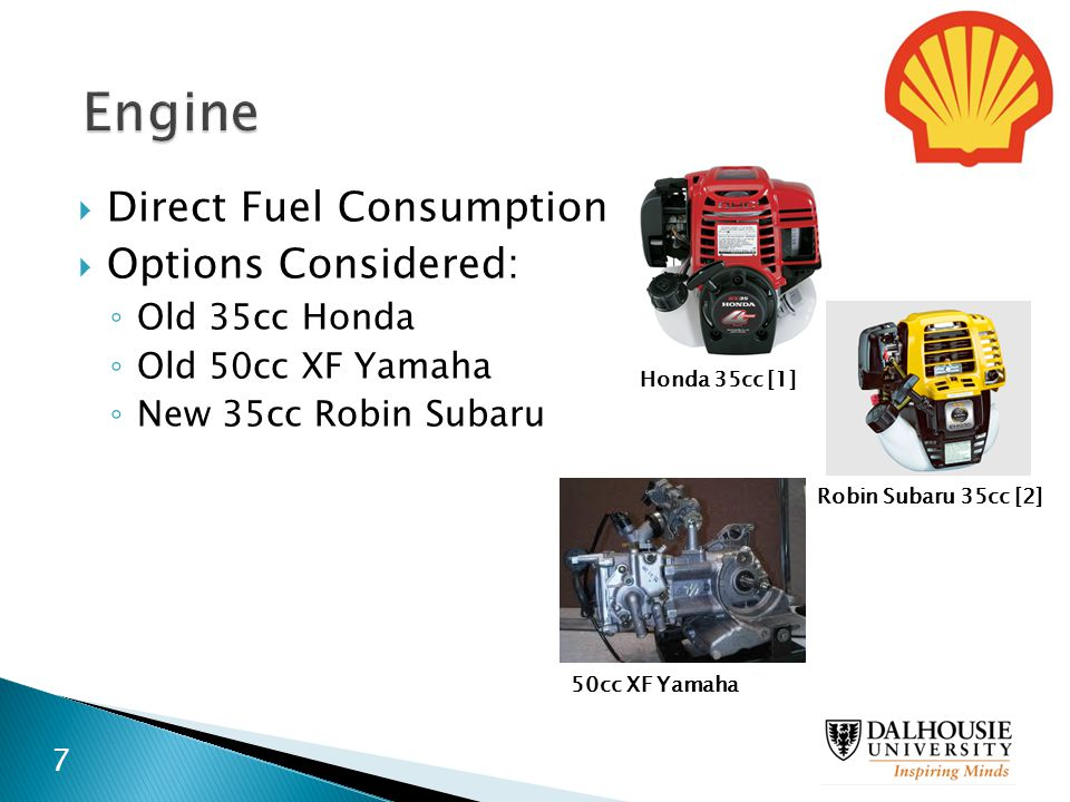 Engine Direct Fuel Consumption Options Considered: Old 35cc Honda