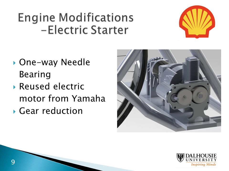 Engine Modifications -Electric Starter One-way Needle Bearing