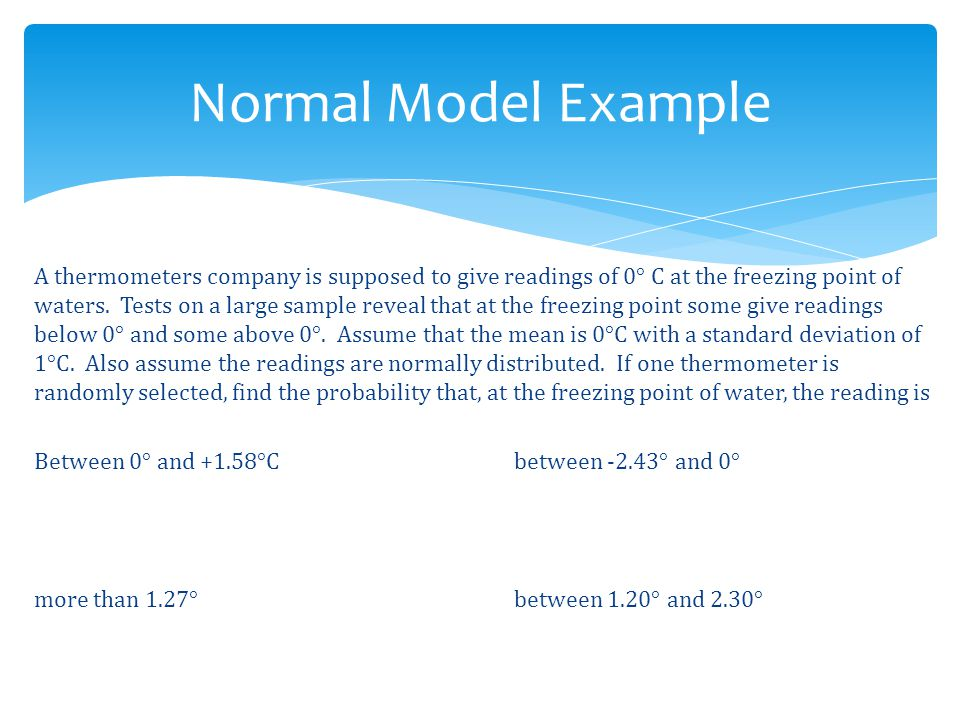 Normal Model Example