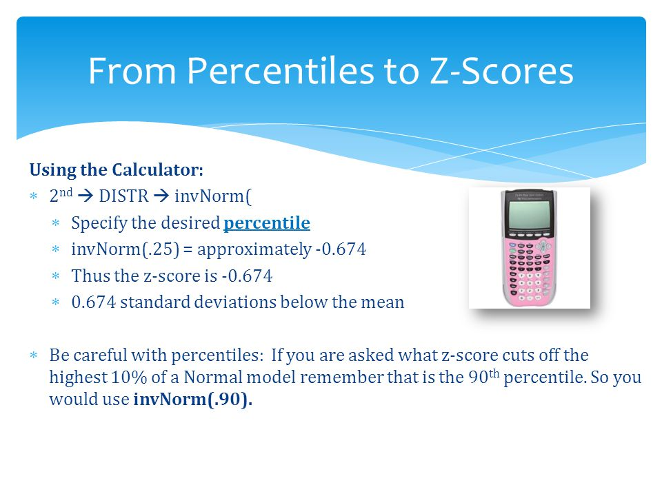 From Percentiles to Z-Scores