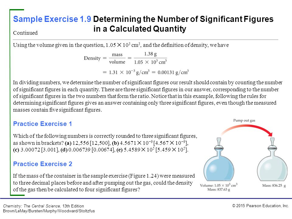 Sample Exercise 1.9 Determining the Number of Significant Figures in a Calculated Quantity