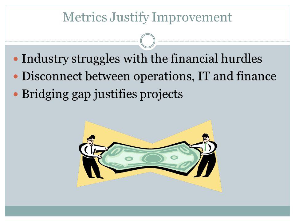 Metrics Justify Improvement