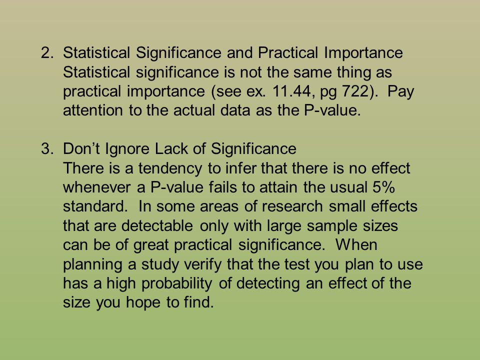 2. Statistical Significance and Practical Importance