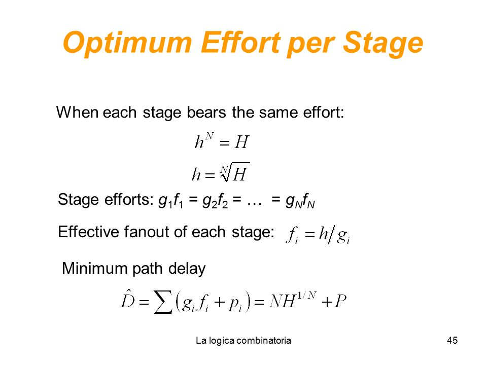 Optimum Effort per Stage