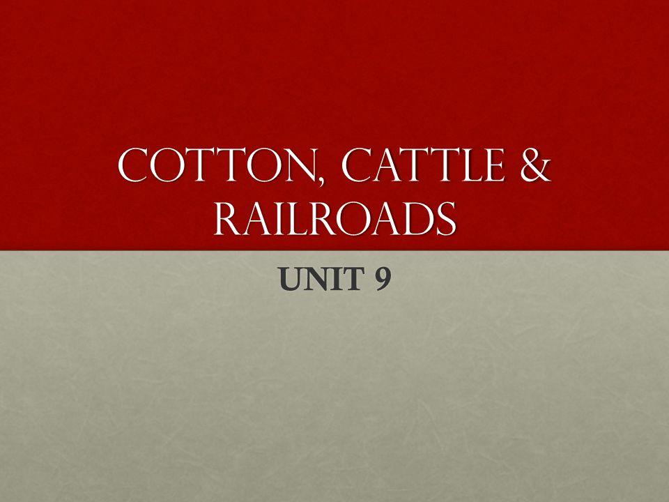 COTTON, CATTLE & RAILROADS