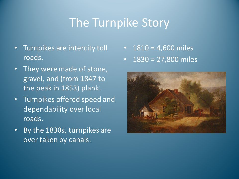 The Turnpike Story Turnpikes are intercity toll roads.