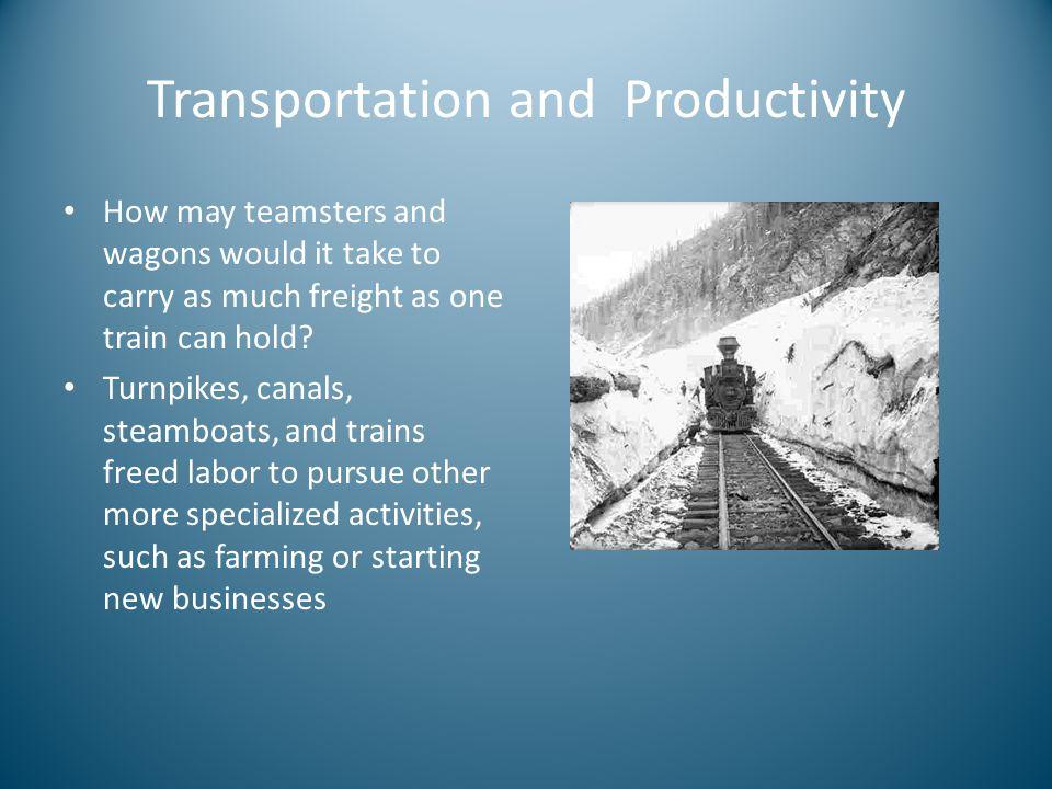 Transportation and Productivity