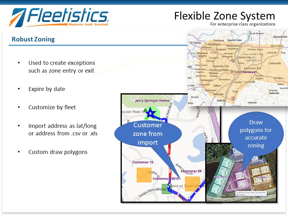 Flexible Zone System Robust Zoning Customer zone from import