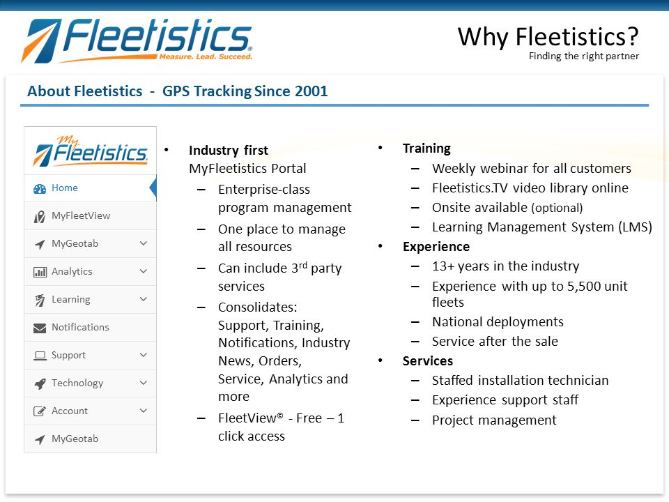 Why Fleetistics About Fleetistics - GPS Tracking Since 2001