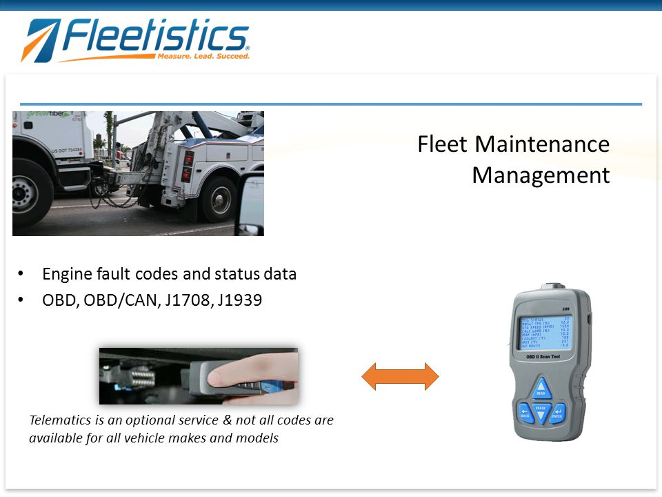 Fleet Maintenance Management