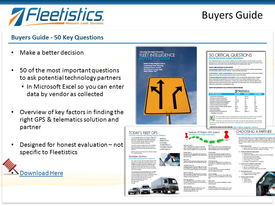 Buyers Guide Buyers Guide - 50 Key Questions Make a better decision