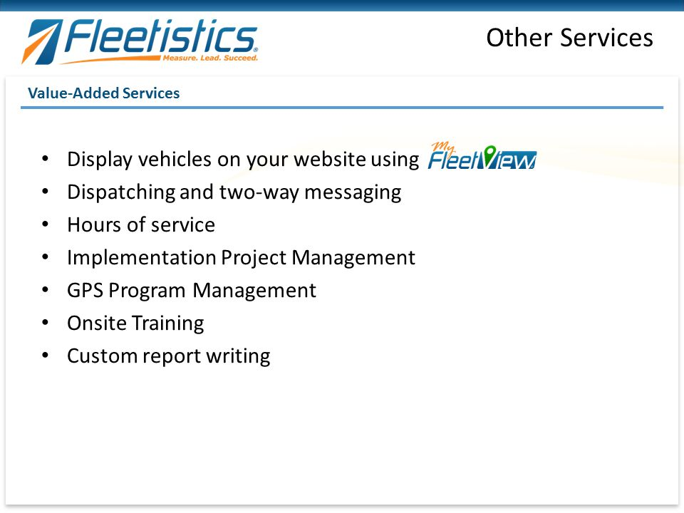 Other Services Display vehicles on your website using
