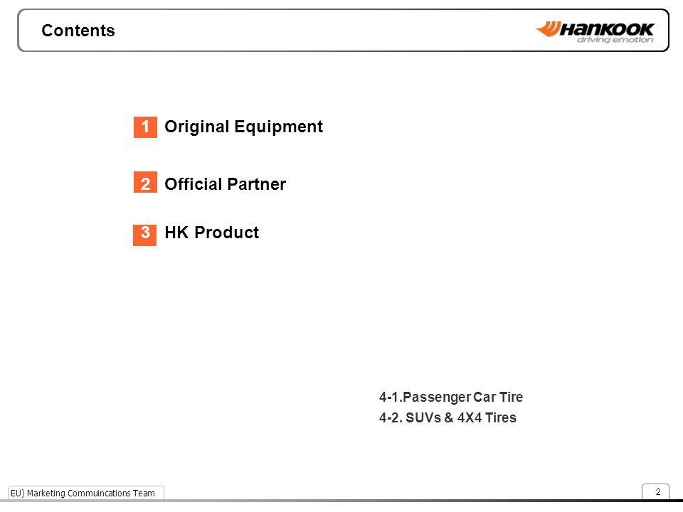 Contents 1 Original Equipment 2 Official Partner 3 HK Product