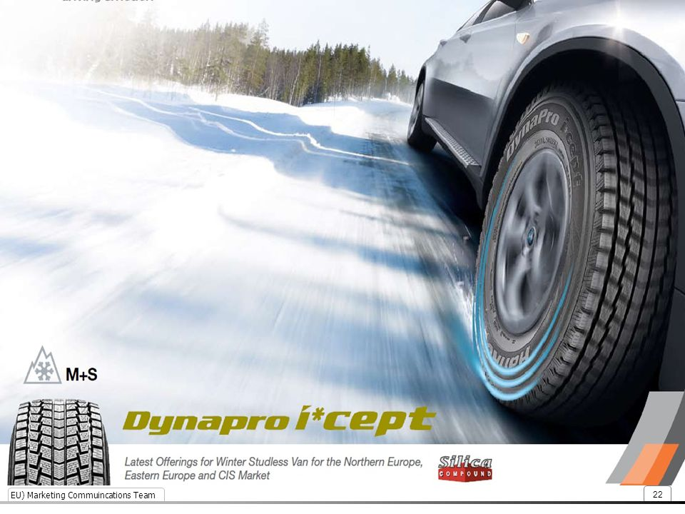 Snow braking performance enhanced by 9%