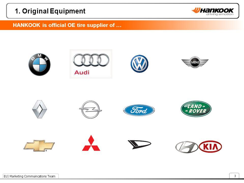 1. Original Equipment HANKOOK is official OE tire supplier of …