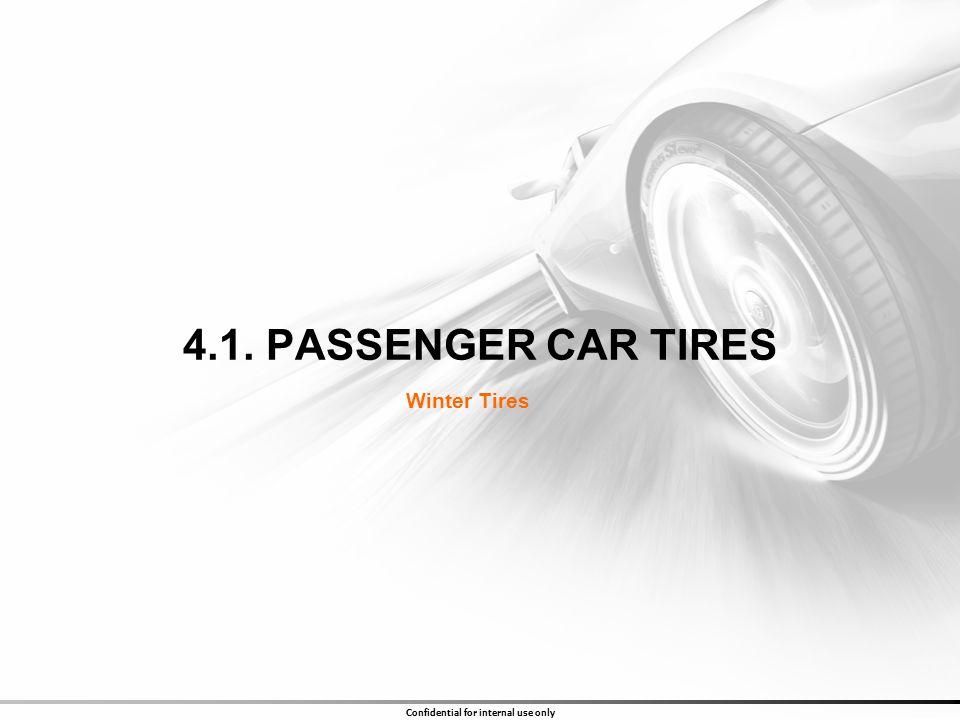 4.1. PASSENGER CAR TIRES Winter Tires